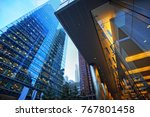 toronto skyline in financial... | Shutterstock . vector #767801458