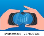 businessmen use telescopes to... | Shutterstock .eps vector #767803138
