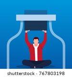 break through the bottleneck | Shutterstock .eps vector #767803198