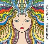 beautiful fashion women with...   Shutterstock .eps vector #767804248
