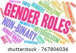 gender roles word cloud on a... | Shutterstock .eps vector #767806036