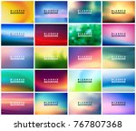 big set of 20 horizontal wide... | Shutterstock .eps vector #767807368