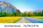 view from yosemite valley in... | Shutterstock . vector #767811976