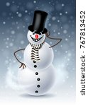 christmas greeting card with... | Shutterstock . vector #767813452