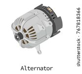 alternator icon. isometric... | Shutterstock .eps vector #767818366