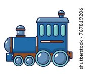 locomotive icon. cartoon... | Shutterstock .eps vector #767819206