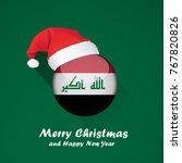 flag of iraq. merry christmas... | Shutterstock .eps vector #767820826