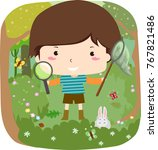 illustration of a kid boy... | Shutterstock .eps vector #767821486