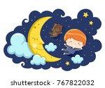 illustration of a kid boy in... | Shutterstock .eps vector #767822032