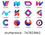 modern minimal vector logo for... | Shutterstock .eps vector #767823862