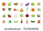 vegetables icon set. cartoon...   Shutterstock .eps vector #767824096