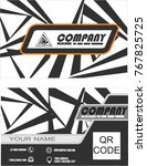 business card design with... | Shutterstock .eps vector #767825725