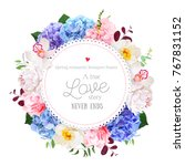 luxury round floral vector... | Shutterstock .eps vector #767831152