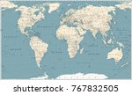 retro world map and main state... | Shutterstock .eps vector #767832505