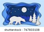 Polar Bear  Against The...