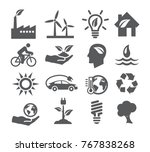 ecology and recycling icons on... | Shutterstock .eps vector #767838268
