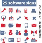 25 software signs  icons  vector | Shutterstock .eps vector #76784092