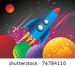 spaceship vector illustration | Shutterstock .eps vector #76784110