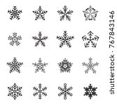 snow flake icon set | Shutterstock .eps vector #767843146
