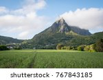 pieter both mountain with... | Shutterstock . vector #767843185