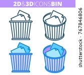 the office waste bin. flat and...   Shutterstock .eps vector #767846806