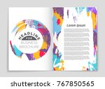 abstract vector layout... | Shutterstock .eps vector #767850565