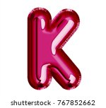 balloon passion pink color ... | Shutterstock . vector #767852662