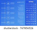 mobility timeline infographic... | Shutterstock .eps vector #767856526