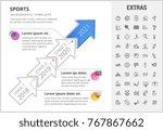 sports timeline infographic... | Shutterstock .eps vector #767867662