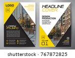 business brochure. flyer design.... | Shutterstock .eps vector #767872825