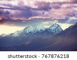 picturesque mountain view in...   Shutterstock . vector #767876218