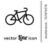 bike vector icon   Shutterstock .eps vector #767876578