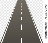 a straight road with a marking... | Shutterstock .eps vector #767877892