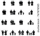 family icon set | Shutterstock .eps vector #767878585