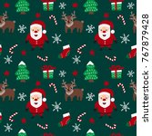 merry christmas seamless... | Shutterstock .eps vector #767879428