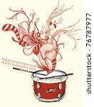 vector illustration of a red... | Shutterstock .eps vector #76787977