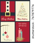 merry christmas and happy new... | Shutterstock .eps vector #767879776