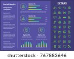 social media infographic... | Shutterstock .eps vector #767883646
