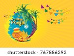 south indian festival pongal... | Shutterstock .eps vector #767886292