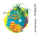 south indian festival pongal... | Shutterstock .eps vector #767886295