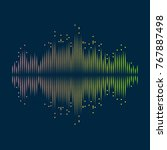 equalizer abstract background... | Shutterstock .eps vector #767887498