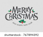 merry christmas vector text... | Shutterstock .eps vector #767894392