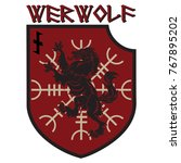 design patch. heraldic shield... | Shutterstock .eps vector #767895202