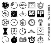 set of 25 hour filled and... | Shutterstock .eps vector #767895886
