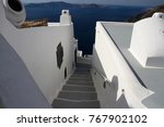 a staircase leading down the... | Shutterstock . vector #767902102
