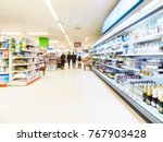 abstract blurred supermarket... | Shutterstock . vector #767903428