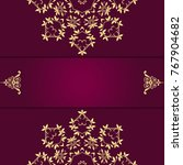 beautiful mandala design on... | Shutterstock .eps vector #767904682