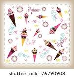 set of sweet pattern design | Shutterstock .eps vector #76790908