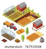 isometric big set infographics... | Shutterstock .eps vector #767915038