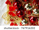 new year background. christmas... | Shutterstock . vector #767916202
